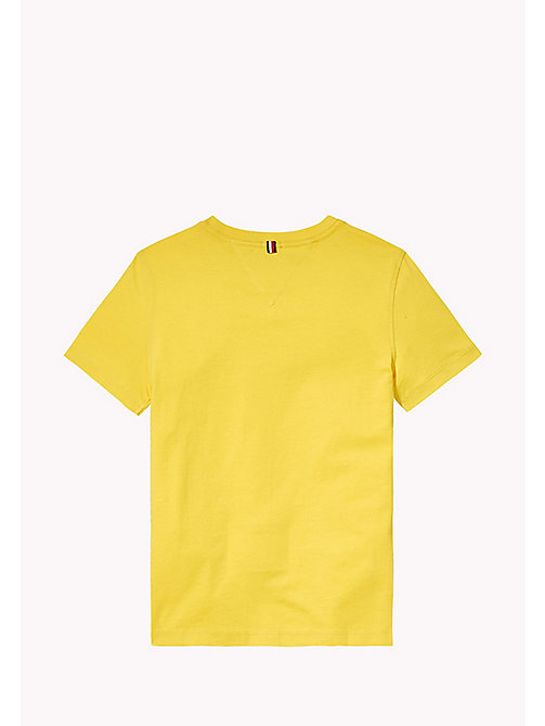 TOMMY HILFIGER T-shirt met logo - EMPIRE YELLOW - TOMMY HILFIGER T-shirts & Polo's - detail image 1