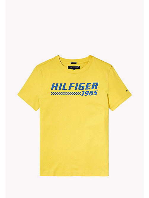 TOMMY HILFIGER Logo T-Shirt - EMPIRE YELLOW - TOMMY HILFIGER T-shirts & Polos - main image