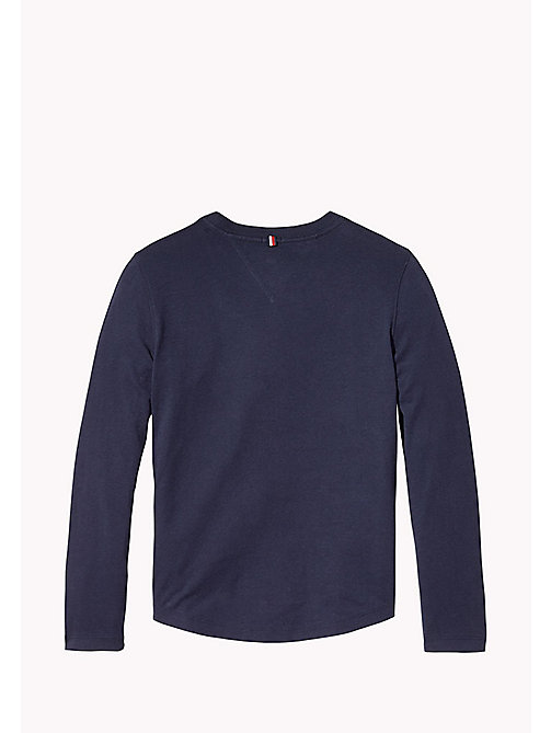 TOMMY HILFIGER Long Sleeve Logo Top - BLACK IRIS - TOMMY HILFIGER T-shirts & Polos - detail image 1