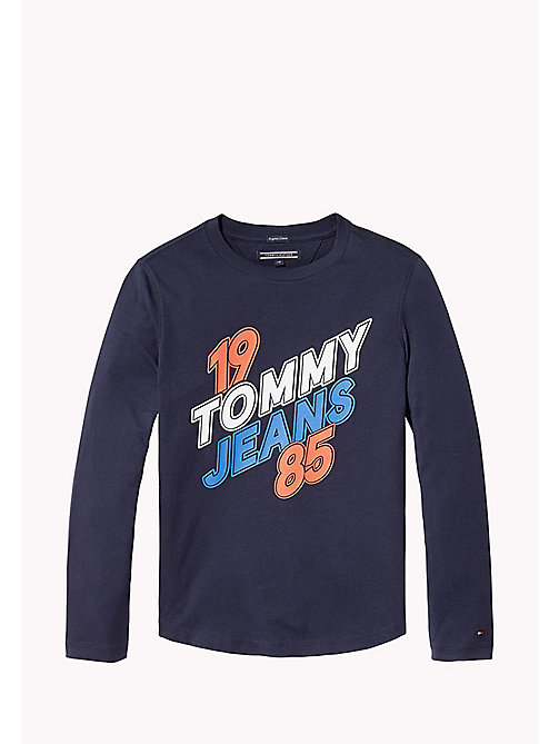 TOMMY HILFIGER Long Sleeve Logo Top - BLACK IRIS - TOMMY HILFIGER T-shirts & Polos - main image
