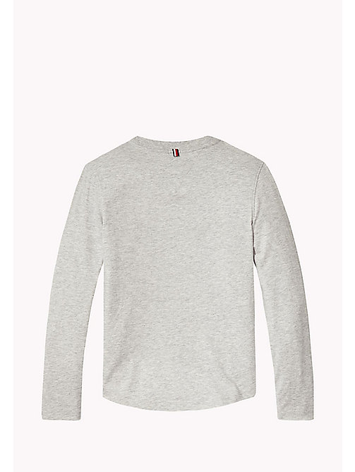 Long Sleeve Logo Top - LIGHT GREY HTR - TOMMY HILFIGER Boys - detail image 1