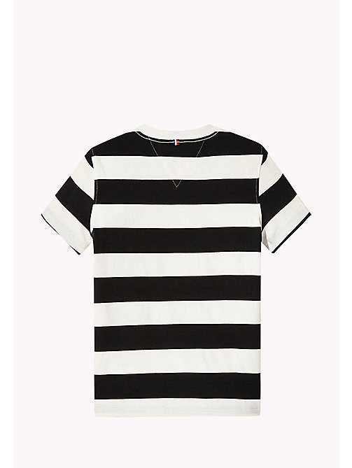 TOMMY HILFIGER T-shirt met gestreepte logoprint - TOMMY BLACK -  T-shirts & Polo's - detail image 1