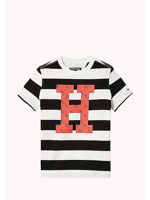 TOMMY HILFIGER Stripe Logo Print T-Shirt - TOMMY BLACK - TOMMY HILFIGER T-shirts & Polos - main image