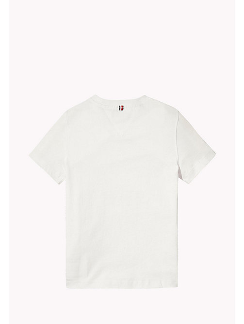 TOMMY HILFIGER T-shirt racer con logo applicato - BRIGHT WHITE - TOMMY HILFIGER T-shirts & Polo - dettaglio immagine 1