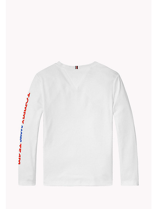 Casual Logo Print Top - BRIGHT WHITE - TOMMY HILFIGER Boys - detail image 1