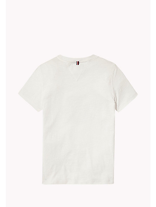 TOMMY HILFIGER Distressed Logo T-Shirt - BRIGHT WHITE - TOMMY HILFIGER T-shirts & Polo - dettaglio immagine 1