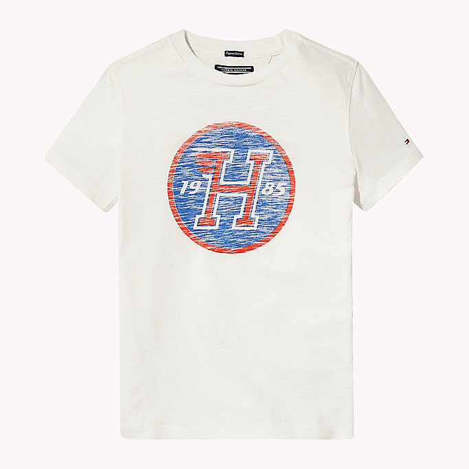 TOMMY HILFIGER Distressed Logo T-Shirt - CUSTARD - TOMMY HILFIGER Kids - main image