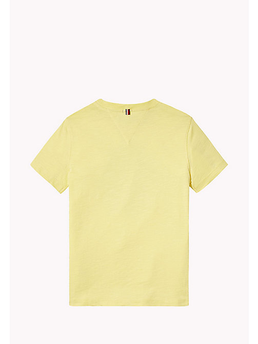 TOMMY HILFIGER Distressed Logo T-Shirt - CUSTARD - TOMMY HILFIGER T-shirts & Polos - detail image 1