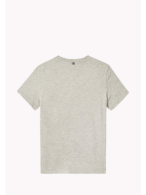 TOMMY HILFIGER Bold Block Panel T-Shirt - LIGHT GREY HTR - TOMMY HILFIGER T-shirts & Polos - detail image 1