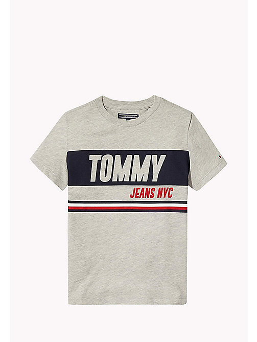 TOMMY HILFIGER Bold Block Panel T-Shirt - LIGHT GREY HTR - TOMMY HILFIGER T-shirts & Polos - main image