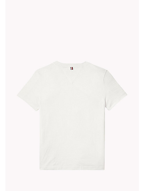 TOMMY HILFIGER Bold Block Panel T-Shirt - BRIGHT WHITE - TOMMY HILFIGER T-shirts & Polos - detail image 1