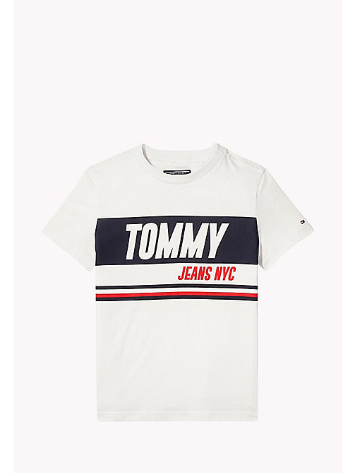 Bold Block Panel T-Shirt - BRIGHT WHITE - TOMMY HILFIGER Boys - main image