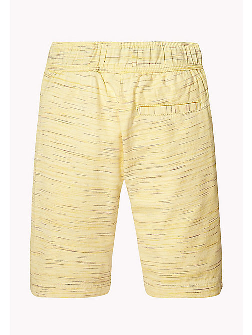 TOMMY HILFIGER Cotton Drawstring Shorts - CUSTARD - TOMMY HILFIGER Boys - detail image 1