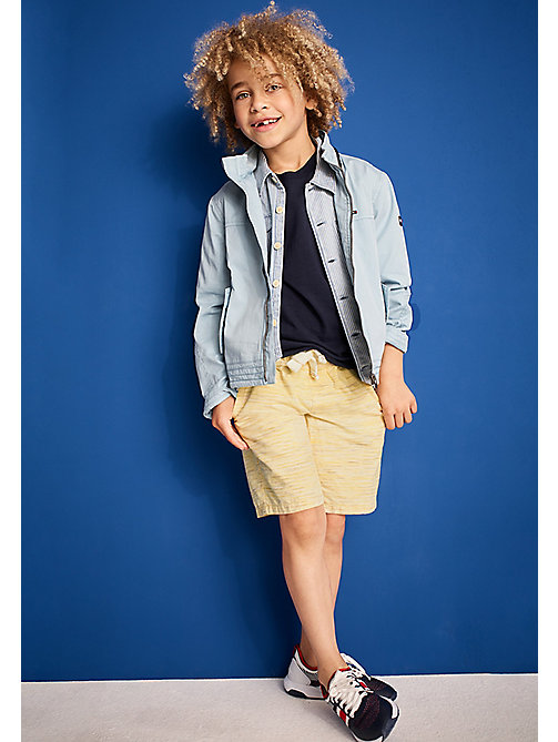 TOMMY HILFIGER Cotton Drawstring Shorts - CUSTARD - TOMMY HILFIGER Boys - main image