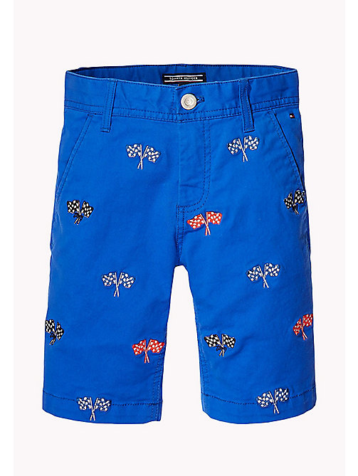 TOMMY HILFIGER Racing Flag Embroidery Shorts - NAUTICAL BLUE - TOMMY HILFIGER Trousers & Shorts - detail image 1