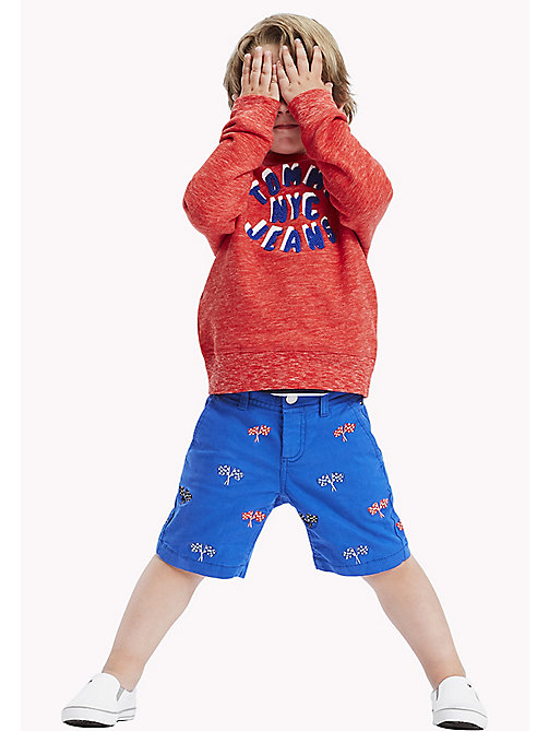 TOMMY HILFIGER Racing Flag Embroidery Shorts - NAUTICAL BLUE - TOMMY HILFIGER Trousers & Shorts - main image