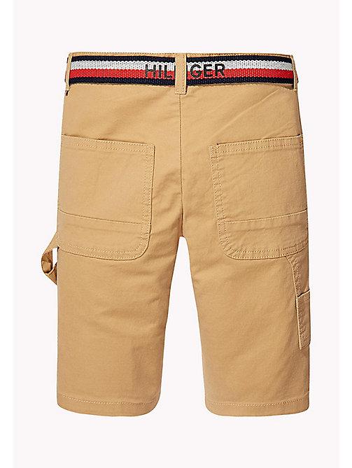 TOMMY HILFIGER Stripe Belted Shorts - TAN - TOMMY HILFIGER Trousers & Shorts - detail image 1