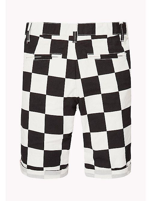 TOMMY HILFIGER Chequerboard Chino Shorts - BRIGHT WHITE - TOMMY HILFIGER Trousers & Shorts - detail image 1