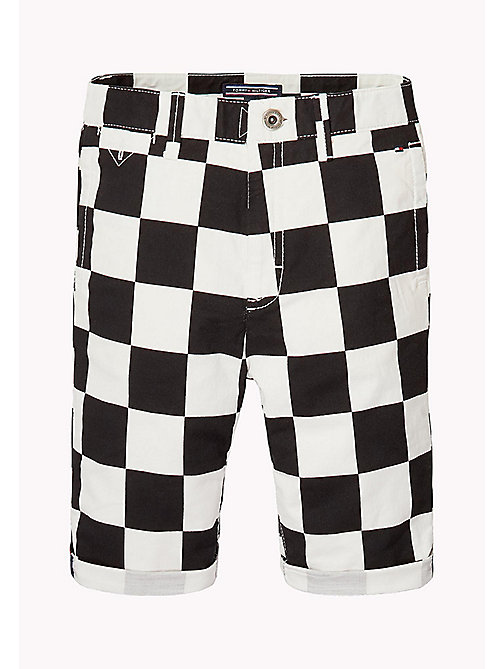 TOMMY HILFIGER Chequerboard Chino Shorts - BRIGHT WHITE - TOMMY HILFIGER Trousers & Shorts - main image