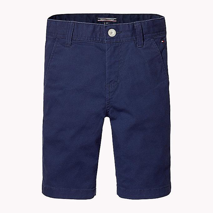 TOMMY HILFIGER Knee Length Chino Shorts - FLAME SCARLET - TOMMY HILFIGER Kids - main image