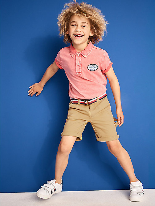 TOMMY HILFIGER Knee Length Chino Shorts - CURDS & WHEY - TOMMY HILFIGER Boys - main image