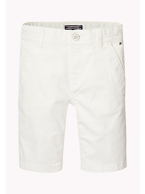 TOMMY HILFIGER Knee Length Chino Shorts - BRIGHT WHITE - TOMMY HILFIGER Trousers & Shorts - main image