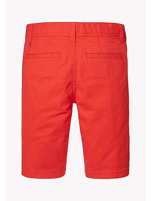 TOMMY HILFIGER Knee Length Chino Shorts - FLAME SCARLET - TOMMY HILFIGER Trousers & Shorts - detail image 1