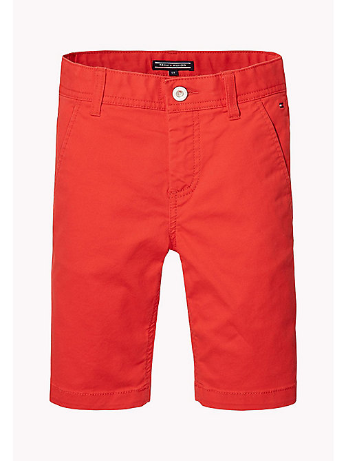 TOMMY HILFIGER Knee Length Chino Shorts - FLAME SCARLET - TOMMY HILFIGER Boys - main image