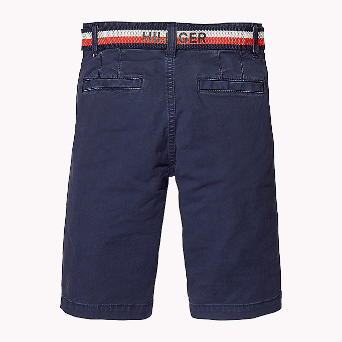 TOMMY HILFIGER Slim Fit Chino Shorts - TOMMY BLACK - TOMMY HILFIGER Kids - detail image 1