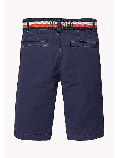 TOMMY HILFIGER Slim Fit Chino Shorts - BLACK IRIS - TOMMY HILFIGER Trousers & Shorts - detail image 1