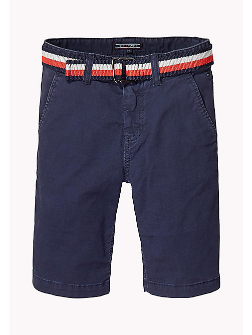 TOMMY HILFIGER Slim Fit Chino Shorts - BLACK IRIS - TOMMY HILFIGER Trousers & Shorts - main image