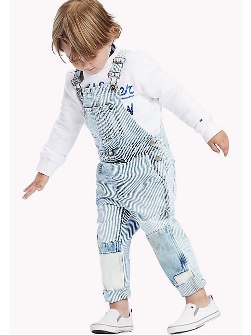 TOMMY HILFIGER Railroad Stripe Denim Dungarees - RAIL ROAD STRIPE - TOMMY HILFIGER Boys - main image