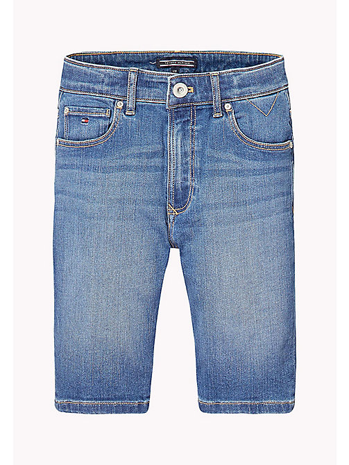 TOMMY HILFIGER Relaxed Fit Denim Shorts - CLIFTON MID BLUE STRETCH - TOMMY HILFIGER Jeans - main image