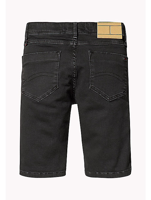 TOMMY HILFIGER Tapered Slim Fit Denim Shorts - TOMMY BLACK -  Boys - detail image 1