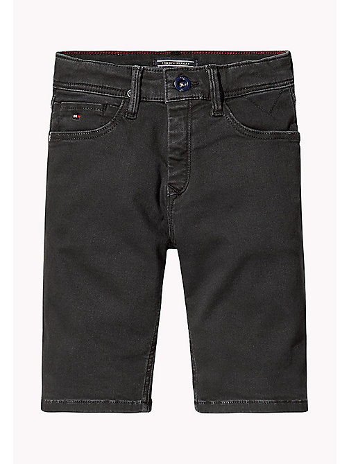 TOMMY HILFIGER Tapered Slim Fit Denim Shorts - TOMMY BLACK -  Boys - main image