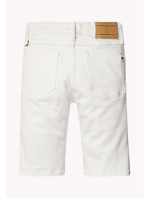 TOMMY HILFIGER Tapered Slim Fit Denim Shorts - BRIGHT WHITE -  Boys - detail image 1