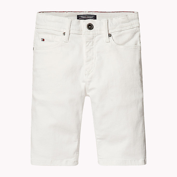 TOMMY HILFIGER Tapered Slim Fit Denim Shorts - TOMMY BLACK - TOMMY HILFIGER Kids - main image
