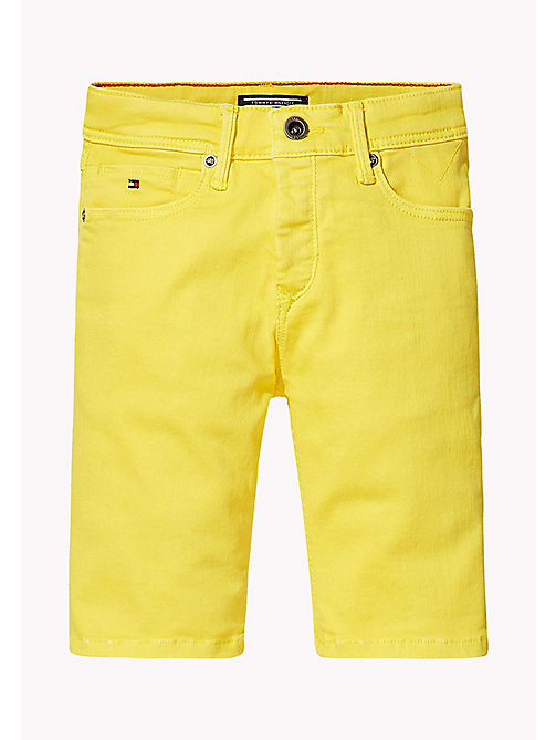 TOMMY HILFIGER Tapered Slim Fit Denim Shorts - EMPIRE YELLOW - TOMMY HILFIGER Jeans - main image 1