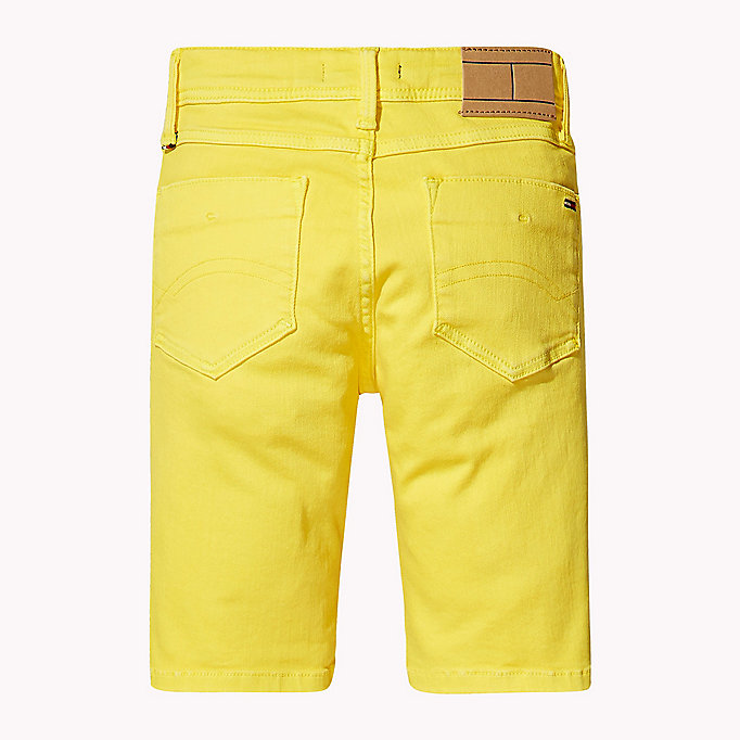 TOMMY HILFIGER Tapered Slim Fit Denim Shorts - BRIGHT WHITE - TOMMY HILFIGER Kids - detail image 2
