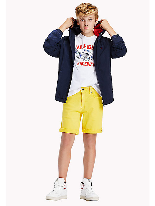 TOMMY HILFIGER Tapered Slim Fit Denim Shorts - EMPIRE YELLOW - TOMMY HILFIGER Boys - main image