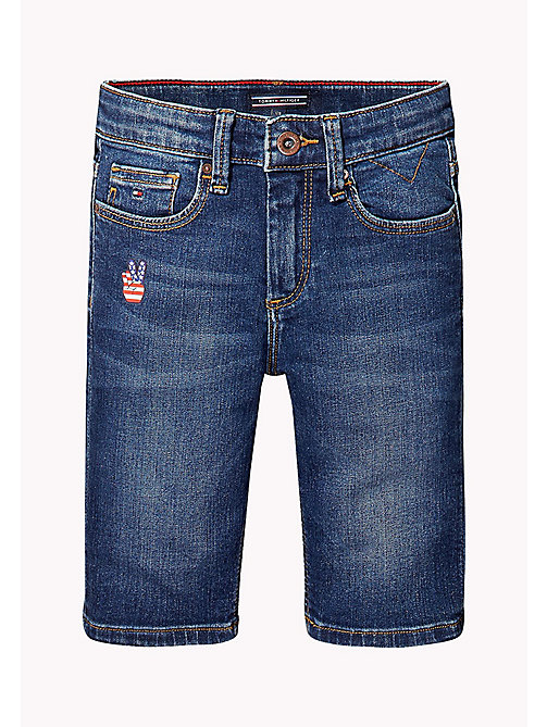TOMMY HILFIGER Slim fit denim korte broek - VOLCANO VINTAGE BLUE STRETCH - TOMMY HILFIGER Jeans - detail image 1
