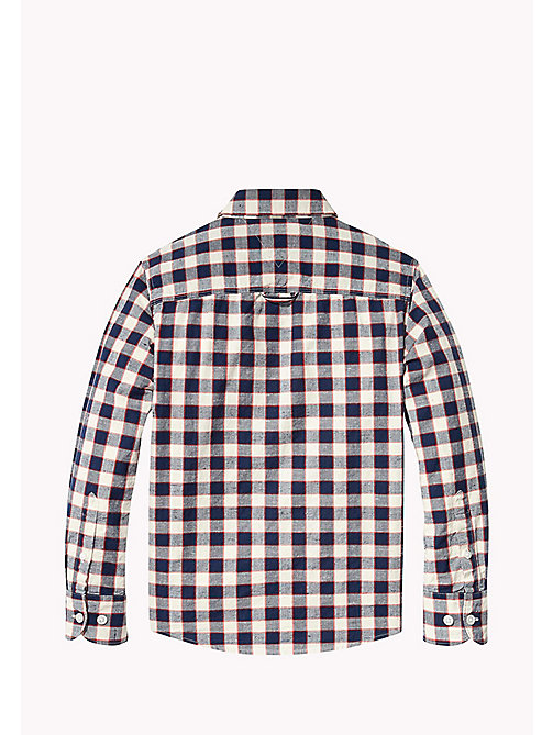 TOMMY HILFIGER Long Sleeved Check Shirt - BLACK IRIS - TOMMY HILFIGER Boys - detail image 1