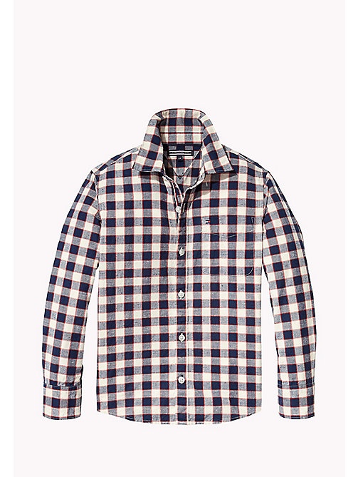 TOMMY HILFIGER Long Sleeved Check Shirt - BLACK IRIS - TOMMY HILFIGER Boys - main image