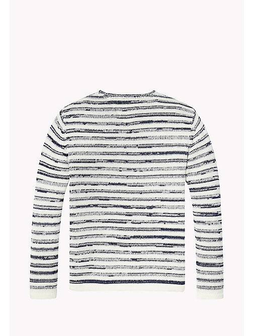 TOMMY HILFIGER Stripe Crew Neck Jumper - BLACK IRIS - TOMMY HILFIGER Boys - detail image 1