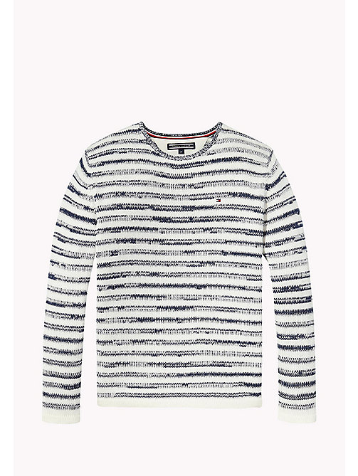 TOMMY HILFIGER Stripe Crew Neck Jumper - BLACK IRIS - TOMMY HILFIGER Boys - main image