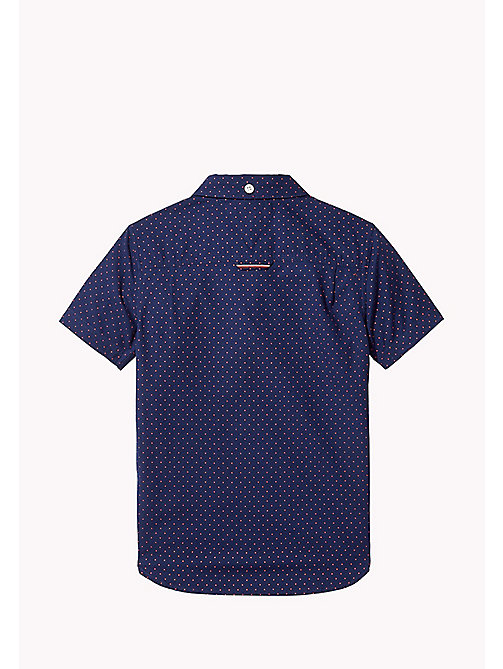 TOMMY HILFIGER Dot Print Short Sleeved Shirt - BLACK IRIS - TOMMY HILFIGER Boys - detail image 1