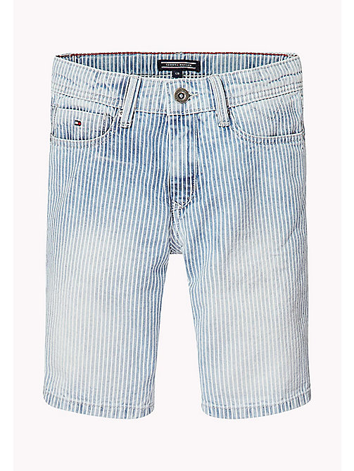 TOMMY HILFIGER Stripe Denim Shorts - RAIL ROAD STRIPE - TOMMY HILFIGER Boys - detail image 1