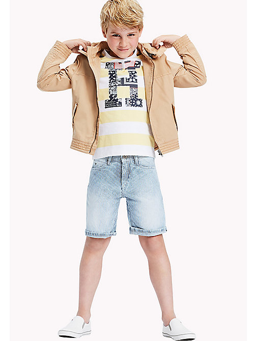 TOMMY HILFIGER Stripe Denim Shorts - RAIL ROAD STRIPE -  Boys - main image