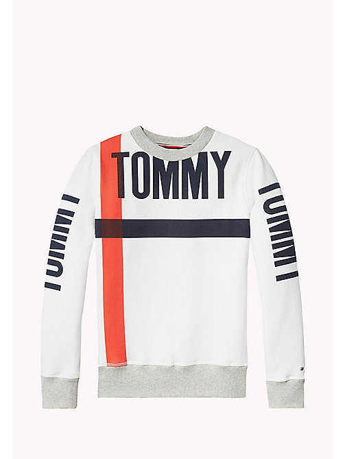 TOMMY HILFIGER Statement Crew Neck Sweatshirt - BRIGHT WHITE - TOMMY HILFIGER Sweatshirts & Hoodies - detail image 1