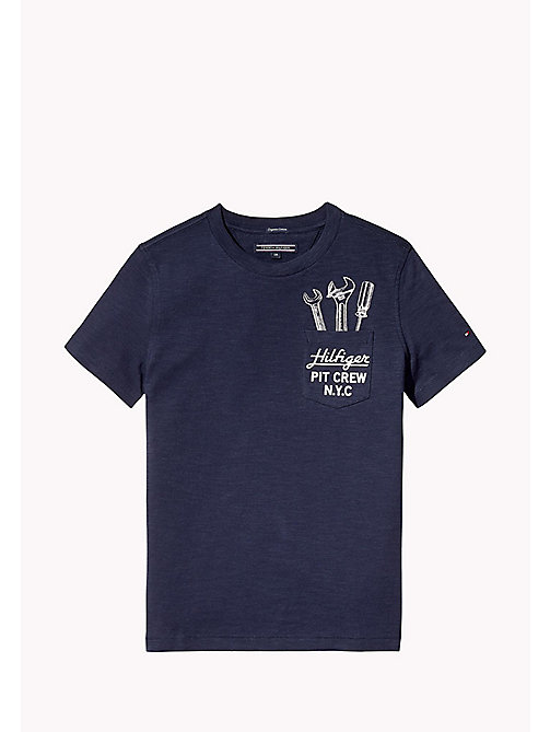 TOMMY HILFIGER Fun Pocket T-Shirt - BLACK IRIS - TOMMY HILFIGER T-shirts & Polos - main image